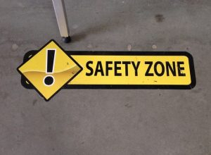 Warehouse Signs safety floor vinyl graphics 300x220